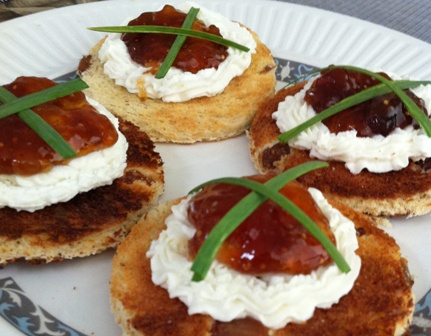 Goat Cheese and Fig Sandwiches on Raisin Bread & Tea Tuesday: Under the Canapé Downton Abbey Cooks