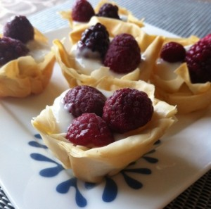 low fat berry tarts