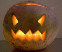 Turnips were the original lit jack-o-lanterns