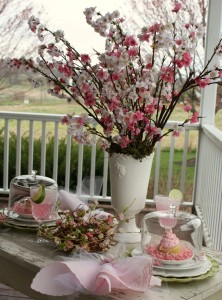 Tea under the cherry blossoms