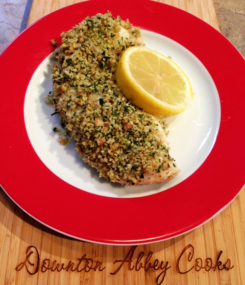 walnut halibut with walnut crust and roasted halibut with walnut baked ...
