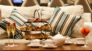 Comfy couch and lovely afternoon tea at the Kensington Close