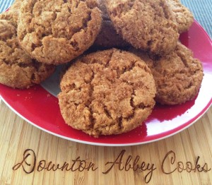 ginger snaps the British way, made with golden syrup