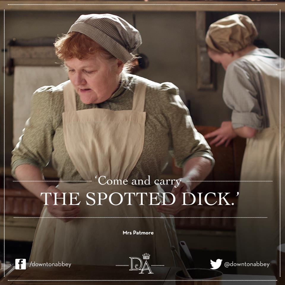 Downton Abbey Serves Spotted Dick, Oh My!