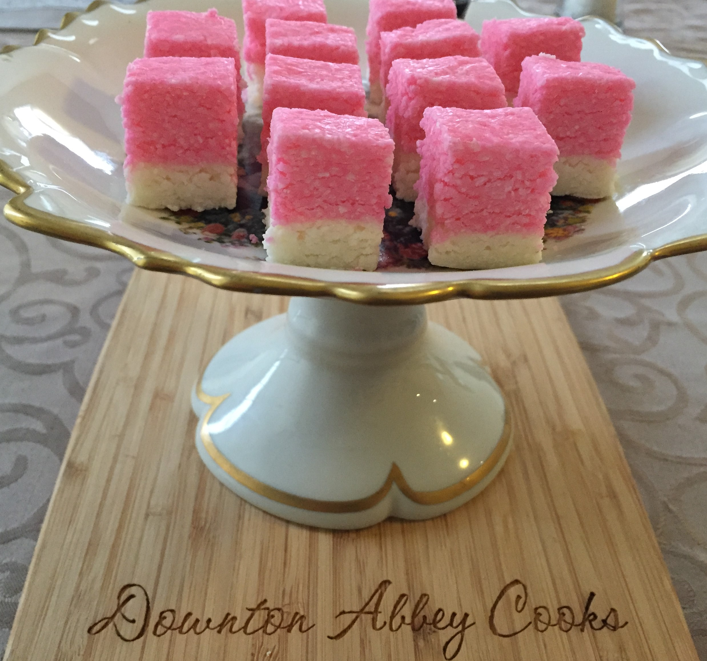 Pretty in Pink Coconut Ice
