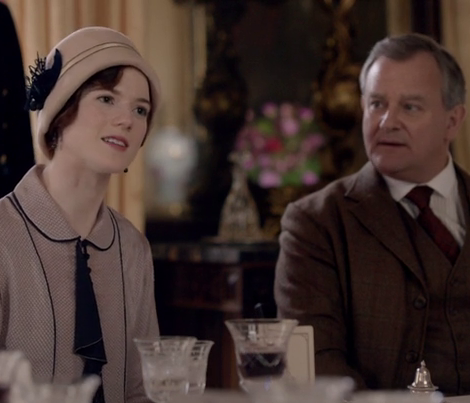 Downton S6E4 Served at Luncheon with Chicken Liver Pâté