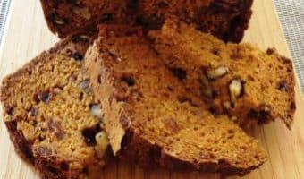 Flavourful Low Fat Pumpkin Bread